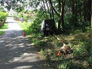 Nehoda opilého řidiče dodávky u Šubířova
