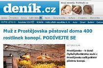 Web prostějovského deníku. Ilustrační foto