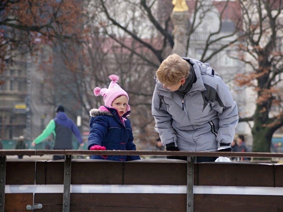 Mobilní kluziště v Prostějově