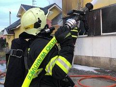 Požár průmyslového objektu v Prostějově.