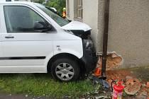 Nehoda dodávky ve Štarnově