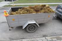 Nehoda vozíku s hnojem