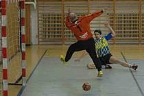 Proti Sokolnici předvedli prostějovští hráči ofenzivní házenou.