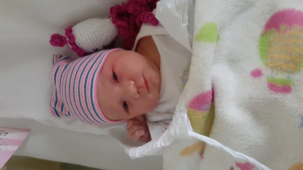Sofie Rožková, Veselíčko, narozena 25. listopadu 2020 v Přerově, míra 49 cm, váha 3370 g