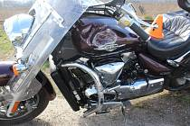 Nehoda motorkáře mezi Kostelcem a Prostějovem