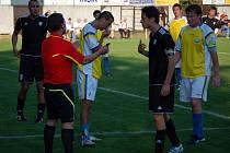 Určice (ve žlutém) proti rezervě HFK Olomouc