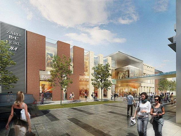 Definitivní podoba obchodního centra, které vyroste na místě Kaska, představená investorem