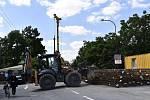 Rekonstrukce mostu v Mostkovicích, 14. července 2020