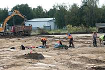 Stavba severního obchvatu Prostějova. 26.9. 2019