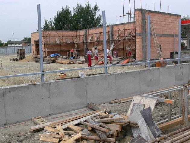 Budování sběrného dvora v Prostějově
