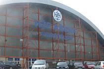 Zimní stadion v Prostějově.