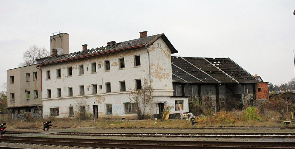 Místní nádraží v Prostějově, listopad 2019
