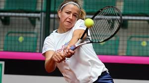 Trénink na Fed Cup v Prostějově