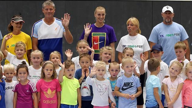 Nábor nových tenisových talentů.