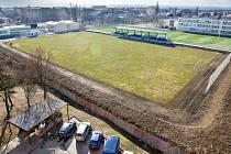 Zrekonstruovaný fotbalový stadion na sídlišti E. Beneše v Prostějově