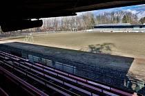 Starý fotbalový stadion v Sportovní ulici v Prostějově