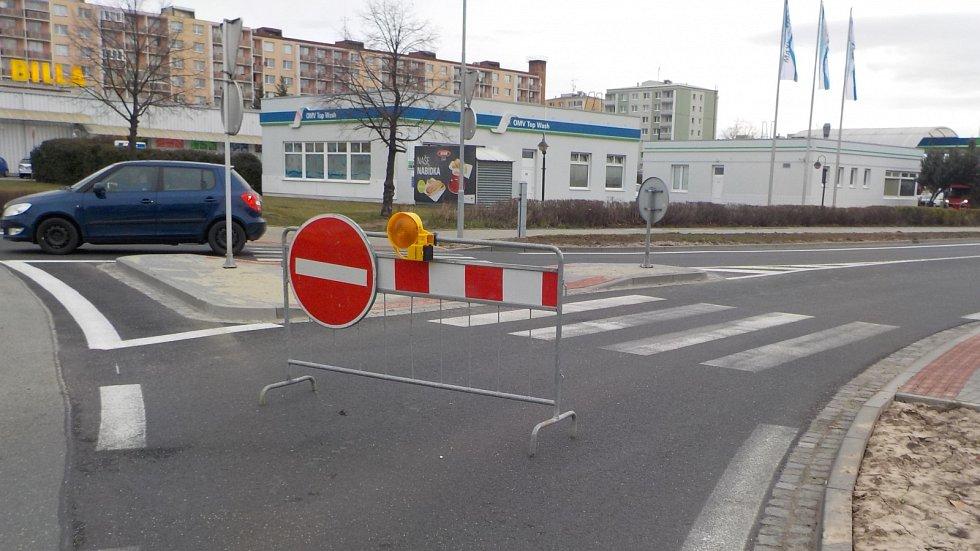 Uzavírka Plumlovské ulice v Prostějově - 18. 3. 2019