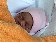 Kelly Kršková, Prostějov, narozena 4. května, míra 47 cm, váha 2350 g