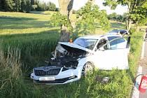 V úterý večer narazil řidič do stromu kvůli mikrospánku. 7.7.2020