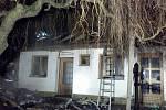 Požáru přístavku rodinného domu v Kostelci na Hané