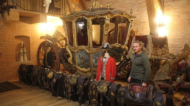 Václav Obr, ředitel muzea kočárů v Čechách pod Kosířem