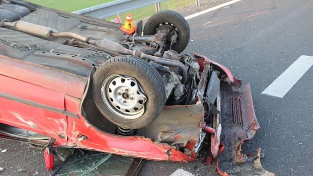 Páteční ranní nehoda na D46 u Žešova.