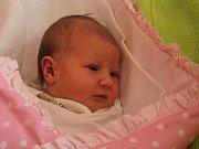 Lilien Lišková, Plumlov, narozena 11. srpna v Prostějově, míra 48 cm, váha 2600 g