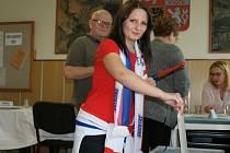 Eurovolby v Plumlově - 24. 5. 2019 - hokejová fanynka Ria Klementová