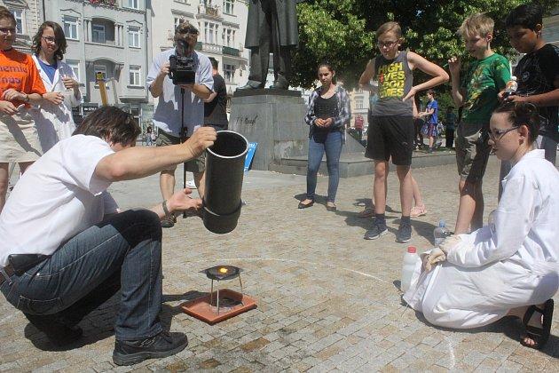 Věda v ulicích Prostějova 2018