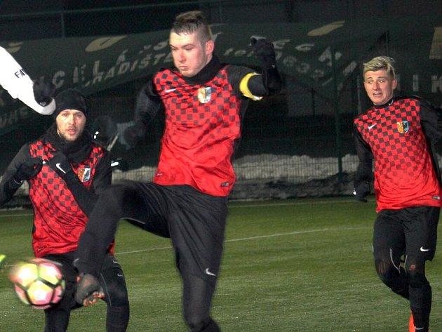Fotbalisté 1.SK Prostějov v zimní přípravě. Ilustrační foto
