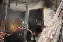 Požár v Jihoslovanské ulici likvidovali hasiči nadvakrát