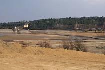 Těžba sedimentů na plumlovské přehradě