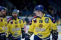Poslední utkání základní části Chance ligy 2019/2020 mezi Přerovem (ve žlutém) a Vsetínem. Jan Berger (vpravo)