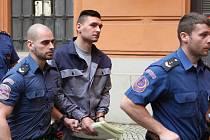 Brno 5.2.2019 - obžalovaného Radima Žondru odvádějí ke Krajskému soudu v Brně.
