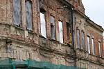 Bývalý hotýlek na Husově náměstí v Prostějově. Stav k 17. dubnu 2019