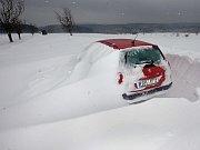 Sněhová kalamita - cesta do Protivanova