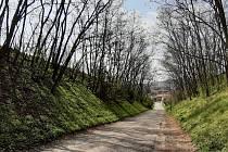 Dosluhující silnice na Větřák u Slatinek