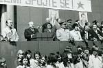 V roce 1978 slavilo Svátek práce v Prostějově téměř 40 tisíc lidí. Manifestaci zahájil Stanislav Kroupa, vedoucí tajemník okresního výboru Komunistické strany Československa v Prostějově.