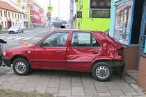 Nehoda felicie na křižovatce Plumlovské a Rostislavovy ulice