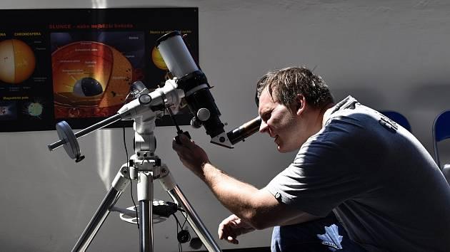 Martin Tylšar na hvězdárně