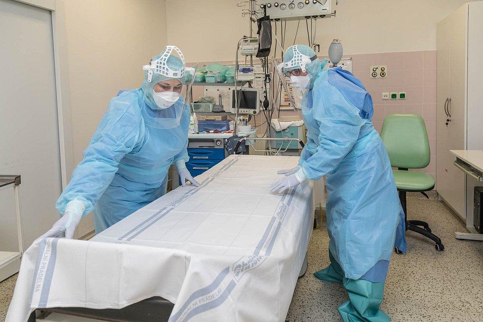 Zdravotníci oddělení ARO Nemocnice Agel Prostějov.