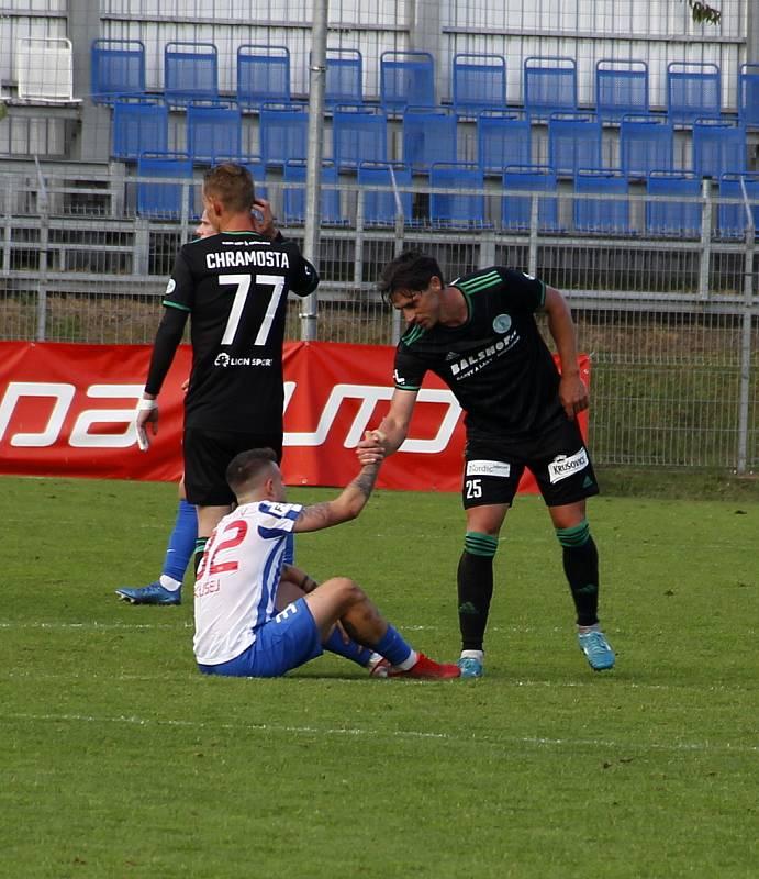 Prostějov prohrál ve 3. kole poháru doma s Bohemians 0:4.Vasil Kušej, Kamil Vacek