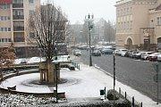 A padá. Avizovaná sněhová nadílka nezapomněla ani na Prostějov.