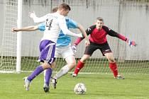 Určičtí fotbalisté znovu padli a opět nedali ani jeden gól. Jejich dalším přemožitelem se stala Mohelnice, která v sobotu odpoledne zvítězila na určickém trávníku 1:0.