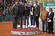 Zleva: kapitán Navrátil, Lukáš Rosol, Jan Hájek, Radek Štěpánek a Tomáš Berdych, manažer týmu Šafařík podnikatel Tomáš Chrenek