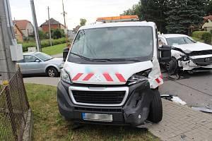 Nehoda cizince v Přemyslovicích