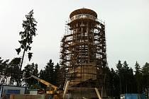Stavba rozhledny na Kosíři - 9. června 2013