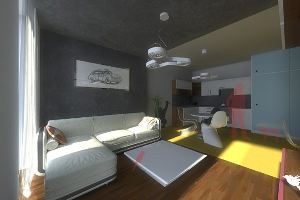 Vizualizace nízkoenergetického bytového domu vMlýnské ulici