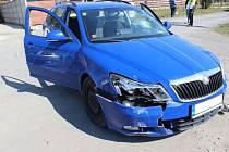 Zdrogovaný řidič se snažil v pátek ujet policistům a havaroval.