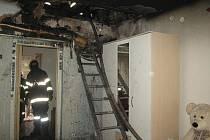 Požár rodinného domu ve Slatinkách